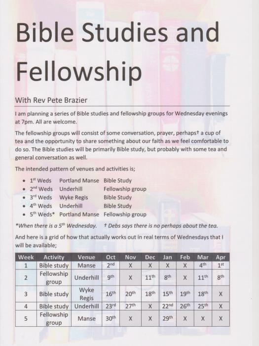 Bible Studies & Fellowship