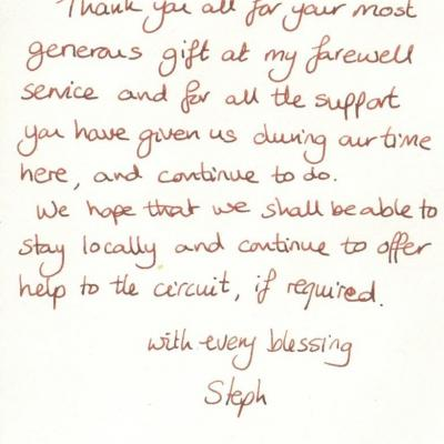 letter from Steph