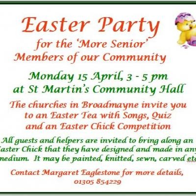 More Senior Easter Party 2019