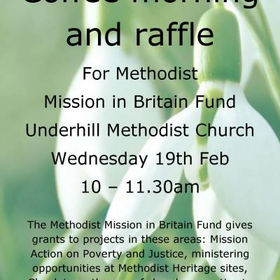 Underhill Coffee morning and raffle
