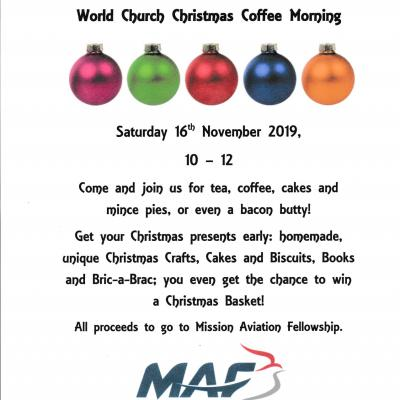 World Church Christmas Coffee Morning 2019 UCD
